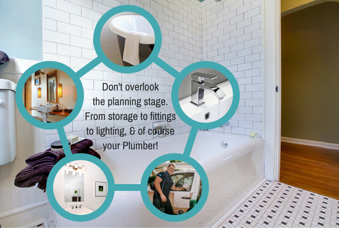 Planning bathroom plumbing with Wild Water Plumbing