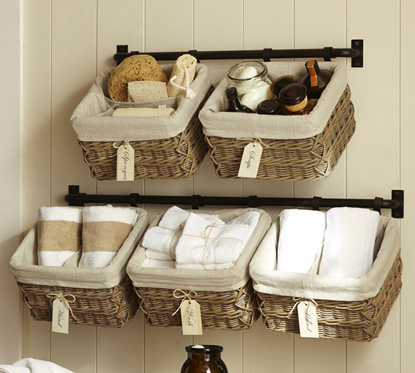 WWP BP2 Pottery Barn Hanging Wall Baskets1 - 5 Excellent bathroom storage ideas