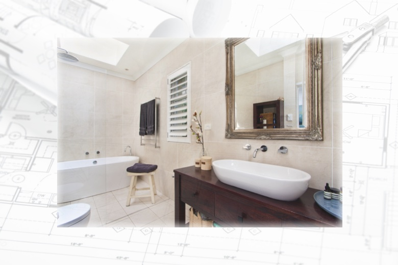 bathroom collage - What to know before renovating your plumbing